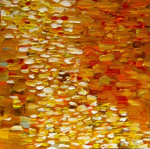 Ochre Reflection #2 Merit Award Winner 2011 Ozaukee County Art Show 8x8, Oil on Panel Sold