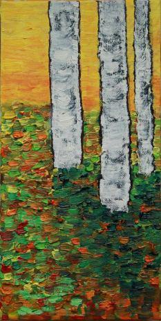 3 Aspens Oil on Canvas, 12