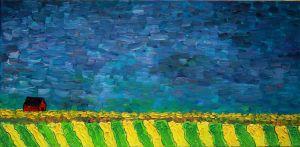 Evening settles Oil on canvas, 12