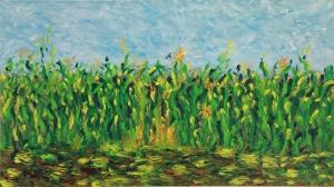 The Corn Field oil on canvas, 18