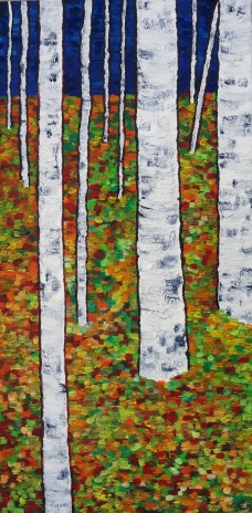 Aspen Woods The Grafton Arts Mill, currently on display Oil on Canvas, 9