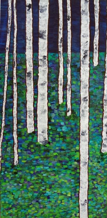 Aspen Evening Oil on Canvas, 12
