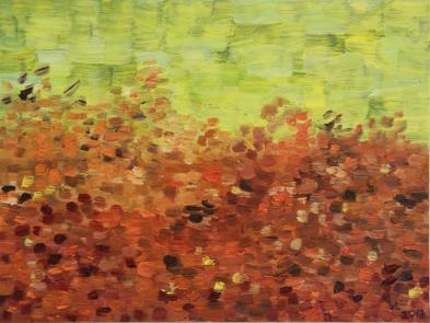 Autumn Meadow oil on panel, 8