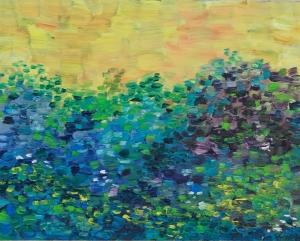 Blue Meadow Oil on panel, 8