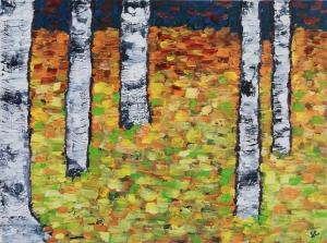Aspen Woods oil on panel, 8