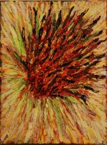 Flower Burst Oil on Canvas, 8
