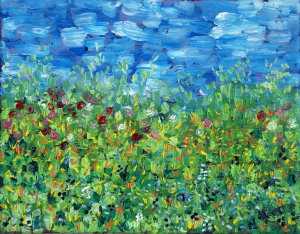 Spring Meadow Oil on Canvas, 10