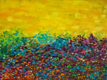Blue Spring 2015 Paint Your Art Out Exhibit, Cedarburg Cultural Center, Cedarburg, WI Oil on Panel 8
