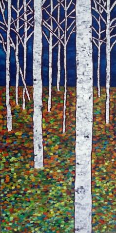 Aspen Woods #2 Oil on canvas 24