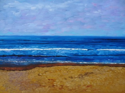 Liz's Beach Currently on display at The Arts Mill Oil on canvas, 18